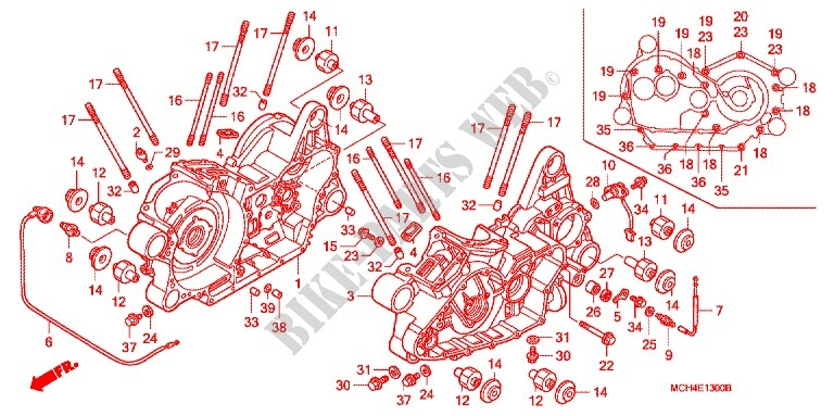 Crankcase Oil Pump For Honda Vtx 1800 F Specification 1