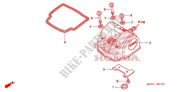 CYLINDER HEAD COVER for Honda CRF 450 X 2005