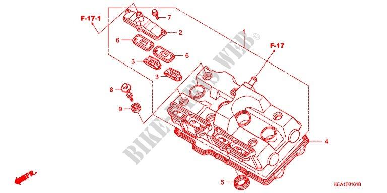 Honda Moto 250 Hor 2000 Cb250fy Engine Couvercle De Culasse: 2000 7 3 Engine Parts Diagram At Jornalmilenio.com