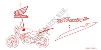 STICKERS (CB250F3/6/7) for Honda CB 250 HORNET 2003