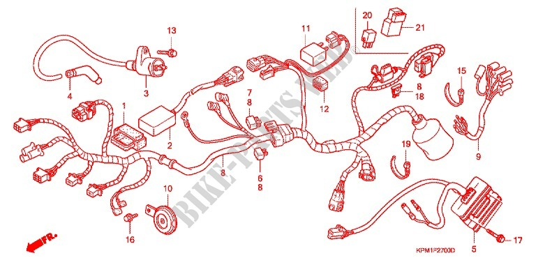 Wire Harness Ignition Coil For Honda Ftr 223 Model