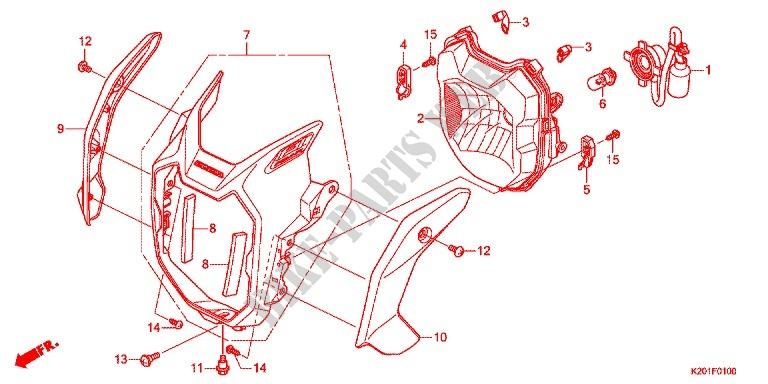 headlight for honda zoomer 110 x 2014 # honda motorcycles & atvs genuine  spare parts catalog  bike parts-honda