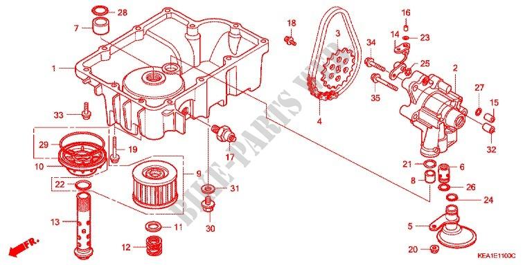 OIL PUMP/OIL PAN/ OIL FILTER for Honda CB 250 HORNET SILVER