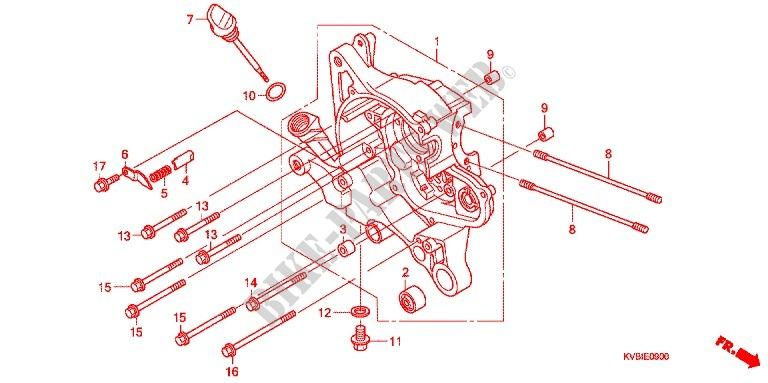 Right Crankcase For Honda Vario 110 Techno Abs 2010