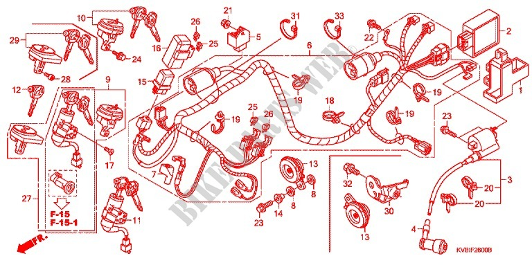 Wire harness battery frame acb110cbb 2010 vario 110 moto honda honda moto 110 vario 2010 acb110cbb frame wire harnessbattery asfbconference2016 Image collections