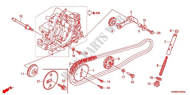 CAM CHAIN TENSIONER for Honda WAVE DASH 110 REPSOL EDITION ... on