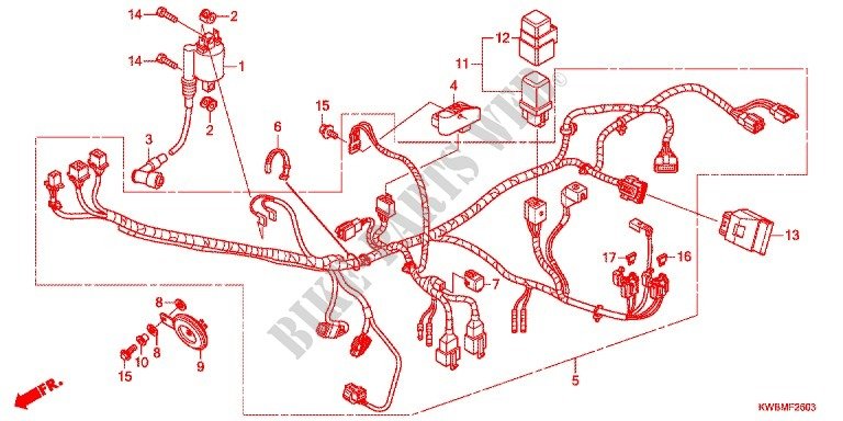 Honda Wave 110 Wiring Diagram