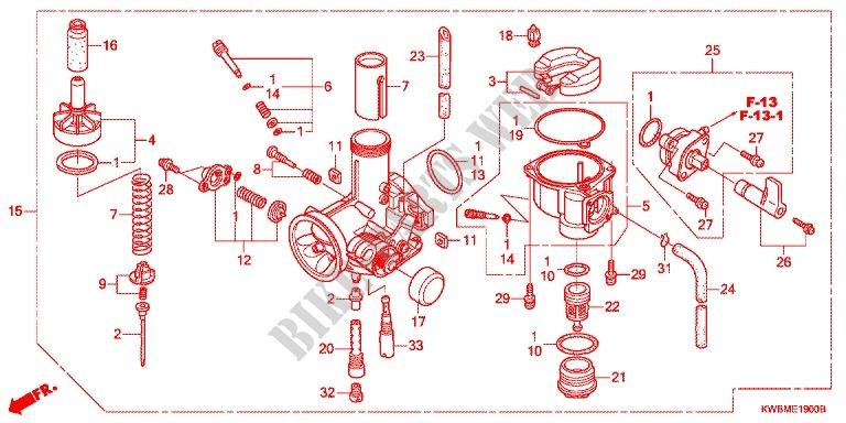 carburetor (2) for honda 110 wave 2014