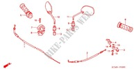 SWITCH    CABLES   LEVERS   GRIPS   MIRRORS for Honda WAVE 125 X, Casted wheels, Electric start 2011