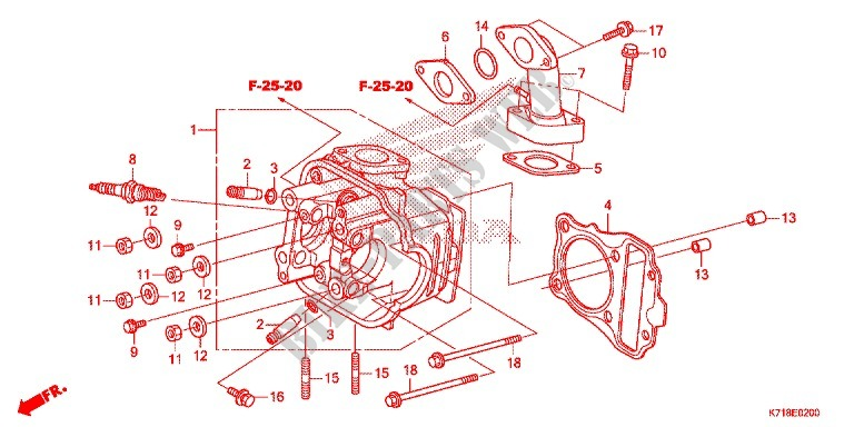 cylinder cylinder head for honda 110 wave 2016 honda motorcycles