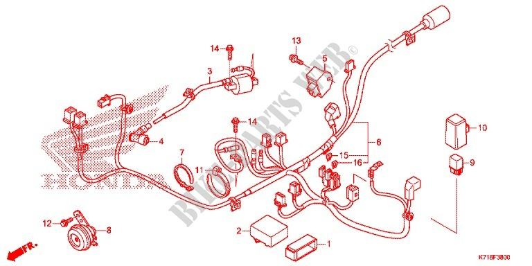 F_38 wire harness battery wave 110 alpha r, front disk, moulded honda wave 100 electrical wiring diagram pdf at mifinder.co