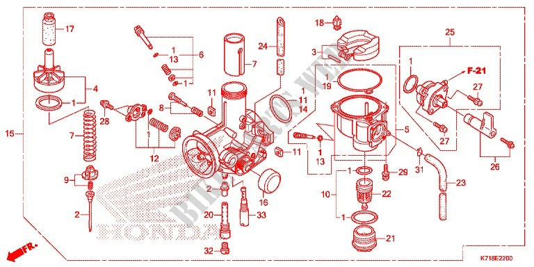 carburetor 2 engine afs110mdg 2016 wave 110 moto honda motorcycle rh bike parts honda com 2003 Honda Rancher Carburetor Diagram 2003 Honda Rancher Carburetor Diagram