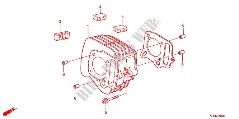 cylinder/cylinder head - wave 100 dr anf100dr6 2006 malaysia, Wiring diagram