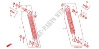 REAR SHOCK ABSORBER (2) for Honda WAVE 100 MSR, Front disk 2008