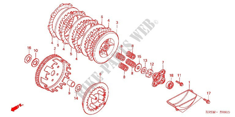 clutch engine anf100msr6 2006 wave 100 moto honda motorcycle honda rh bike parts honda com honda grom clutch diagram honda cr85 clutch diagram