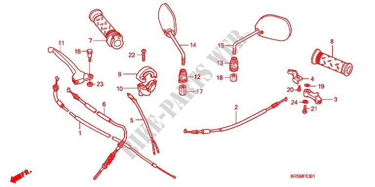 Lever Switch Cable  Anf100dr  Sr  Msr  For Honda Wave 100 Msr  Front Disk 2006   Honda Motorcycles