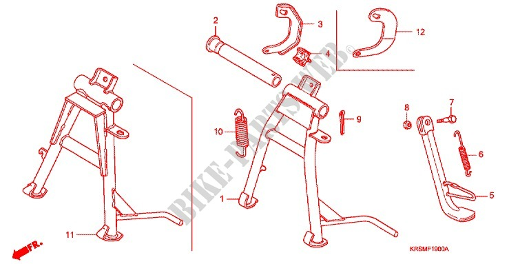 MAIN STAND   BRAKE PEDAL for Honda WAVE 100 MSR, Front disk 2008