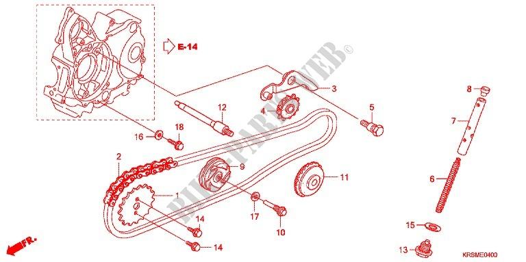 Cam Chain  Tensioner For Honda Wave 100 Sr 2006   Honda Motorcycles  U0026 Atvs Genuine Spare Parts