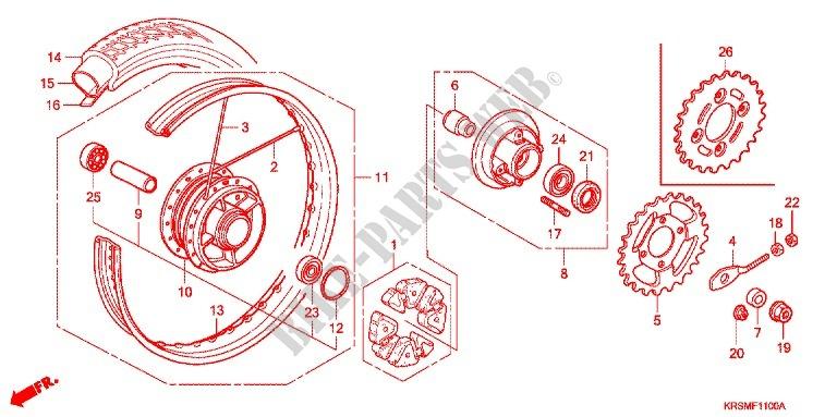 Rear Wheel For Honda Wave 100 Sr 2006   Honda Motorcycles  U0026 Atvs Genuine Spare Parts Catalog