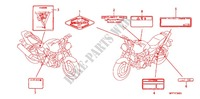 CAUTION LABEL (CB1300/A) Frame 1300 honda-motorcycle CB 2009 F_36