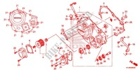 RIGHT CRANKCASE COVER for Honda CBR 250 R ABS RED 2012