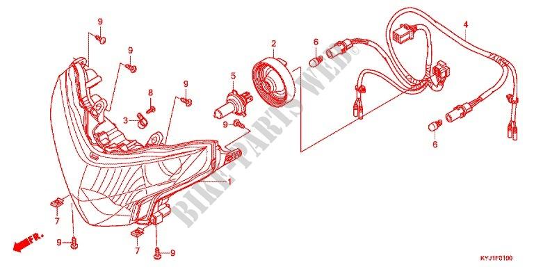 Headlight For Honda Cbr 250 R Abs 2014   Honda Motorcycles