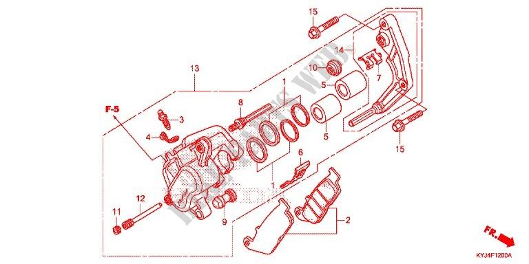 honda moto 250 cbr 2012 cbr250rc_a frame --- etrier de frein avant (cbr250r