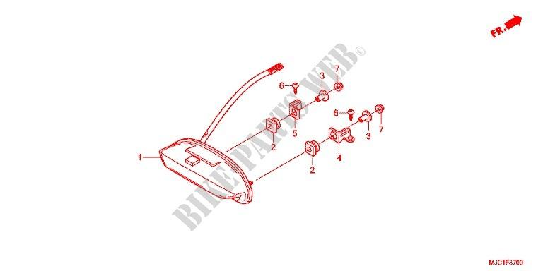 TAILLIGHT (2) for Honda CBR 600 RR HRC TRICOLOR 2013 # HONDA