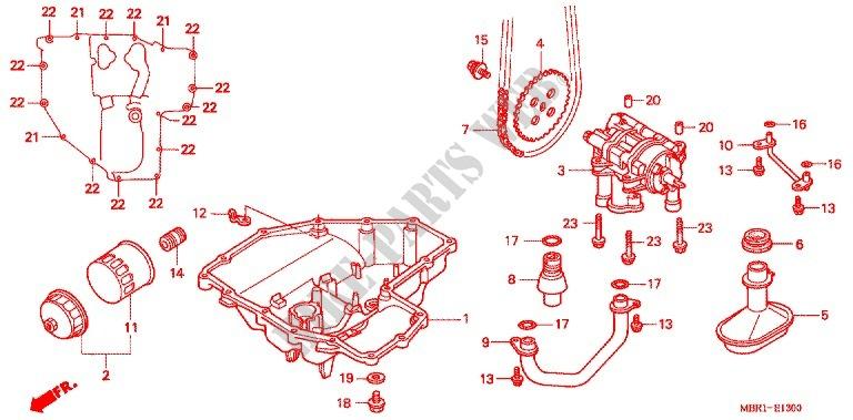 OIL FILTER/OIL PAN/OIL PU MP for Honda CB 1300 SUPER FOUR