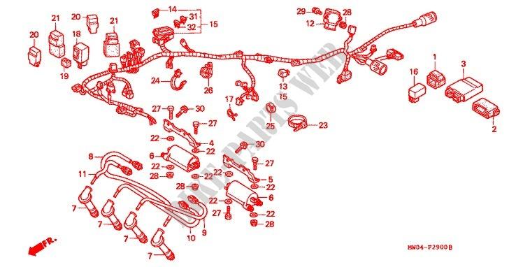 Indicator Relay Honda CBR 900 RRV Fireblade   1997 900 CC