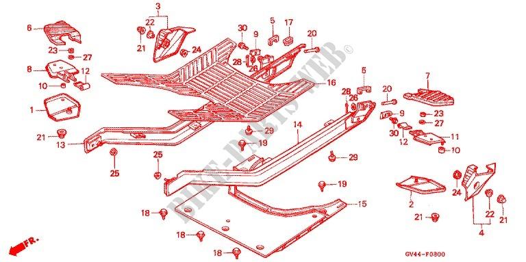 Honda Elite 80 Parts Diagram