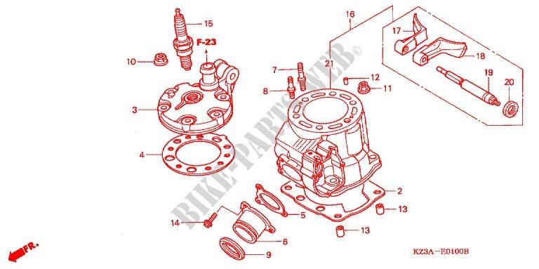 Cylindre Culasse Cr250r02 04 Engine Cr250r4 2004 Cr 250 Moto Honda. Honda Moto 250 Cr 2004 Cr250r4 Engine Cylindreculasse Cr250r'. Honda. Honda Cr 250 Engine Diagram At Scoala.co