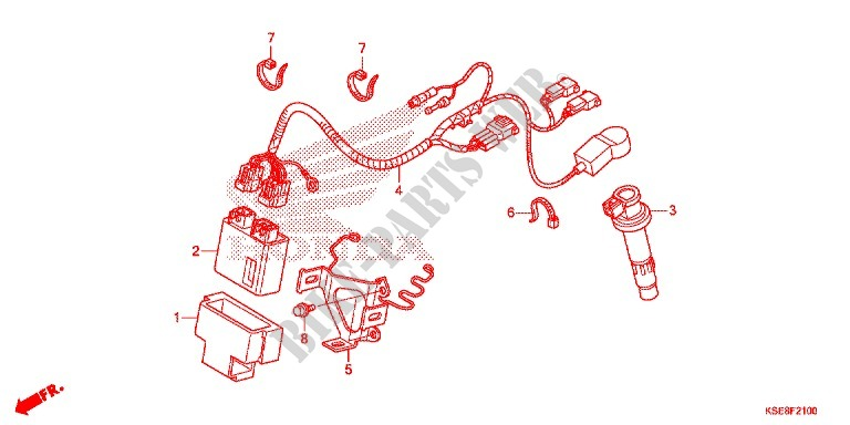 WIRE HARNESS/BATTERY for Honda CRF 150 R 2017 # HONDA ... on