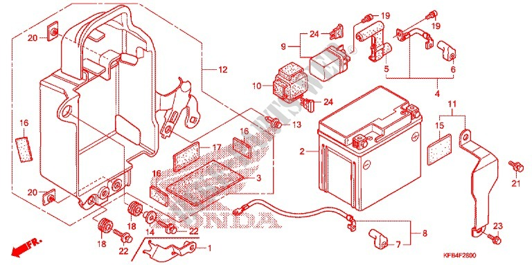 Tools  Battery Box For Honda Crf 230 L 2009   Honda