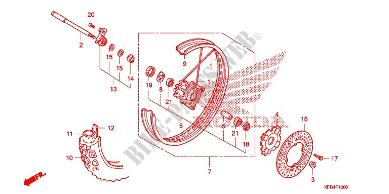 crf230l wiring diagram roue avant  crf230l  for honda crf 230 l 2009 honda motorcycles  roue avant  crf230l  for honda crf 230