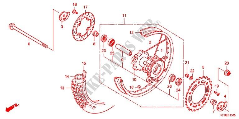 REAR WHEEL for Honda CRF 230 L 2009 # HONDA Motorcycles ... on honda maintenance log, honda alternator diagram, honda design diagram, honda motorcycles schematics, honda lower unit diagram, honda atc carb diagram, honda parts diagram, honda sensors diagram, honda atv diagrams, honda schematic diagram, honda ignition diagram, honda thermostat diagram, honda clutch diagram,