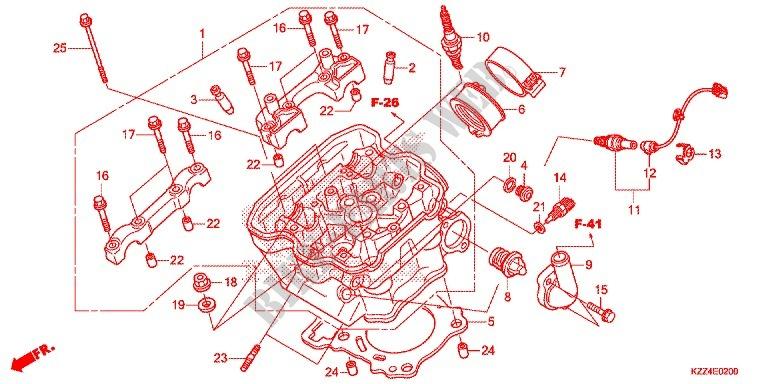 honda moto 250 crf 2013 crf250ld engine cylinder/cylinder head
