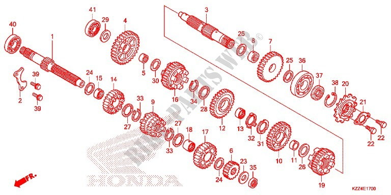 GEARBOX for Honda CRF 250 L RED 2013