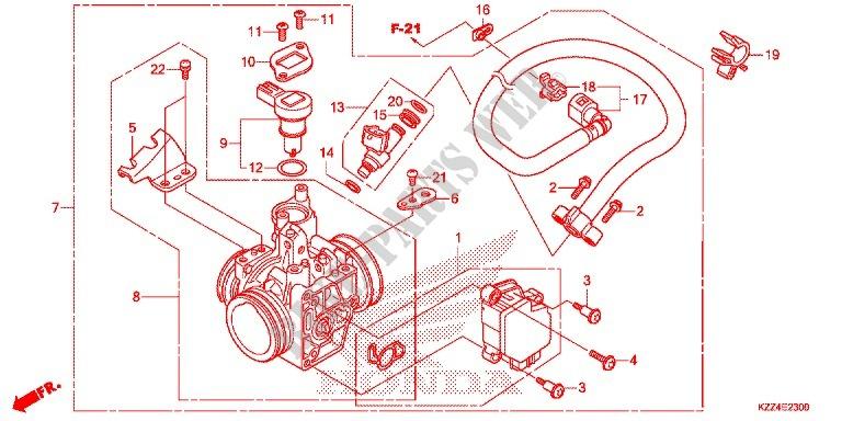 Throttle Body Nps508 9 Engine Crf250le 2014 Crf 250 Moto Honda. Honda Moto 250 Crf 2014 Crf250le Engine Throttle Body Nps5089. Honda. Honda Crf 250 Engine Diagram At Scoala.co