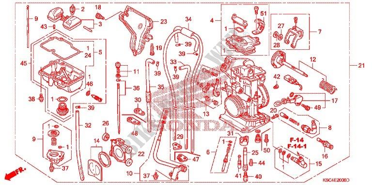 CARBURETOR O P  KIT (CR85R3,4/RB3,4) for Honda 250 CRF 2005