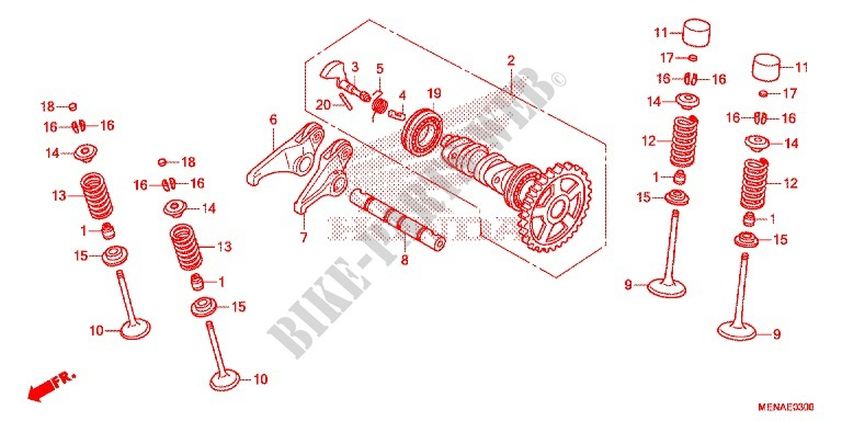 CAMSHAFT for Honda CRF 450 R 2013