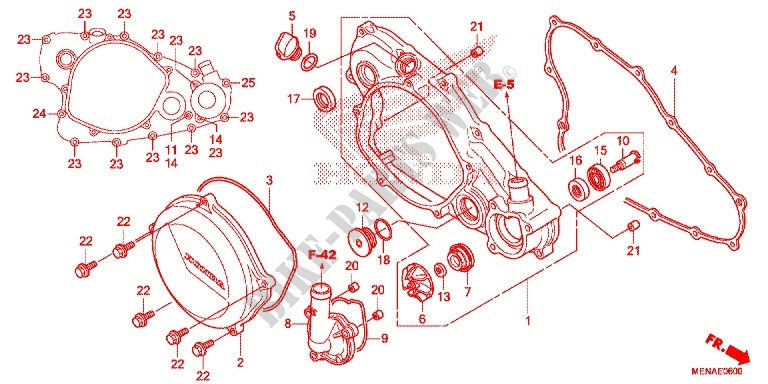 Right Crankcase Cover Wat Er Pump Engine Crf450re 2014 Crf 450 Moto. Honda Moto 450 Crf 2014 Crf450re Engine Right Crankcase Coverwat Er Pump. Honda. Honda Crf 450 Engine Diagram At Scoala.co