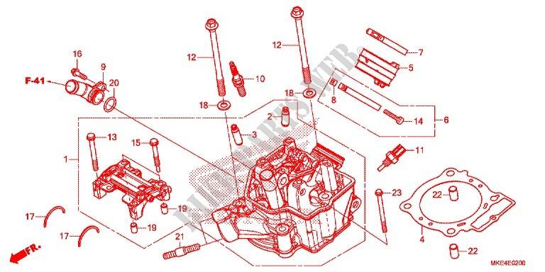 Cylinder Head Engine Crf450rh 2017 Crf 450 Moto Honda. Honda Moto 450 Crf 2017 Crf450rh Engine Cylindercylinder Head. Honda. Honda Crf 450 Engine Diagram At Scoala.co