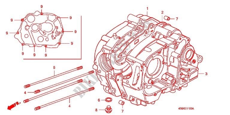 CRANKCASE OIL PUMP Engine CT1106 2006 CT 110 MOTO Honda motorcycle ...