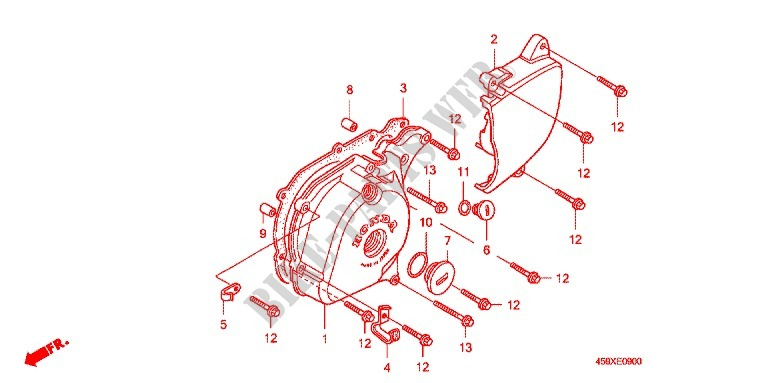 Left Crankcase Cover Alternator  2  For Honda Ct 110 Trail 2006   Honda Motorcycles  U0026 Atvs