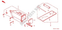 TOOLS/BATTERY BOX Frame 200 honda-motorcycle CTX 2004 F_29