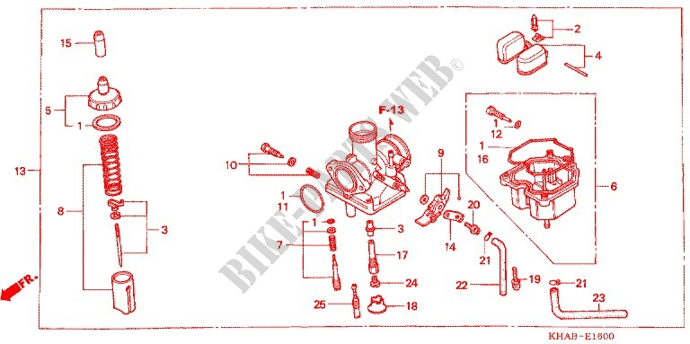 E_16 carburetor o p kit (cr85r3,4 rb3,4) ctx 200 bushlander ctx2003 honda ctx 200 wiring diagram at alyssarenee.co