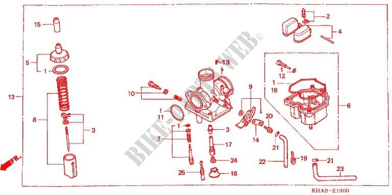 E_16 carburetor o p kit (cr85r3,4 rb3,4) ctx 200 bushlander ctx2003 honda ctx 200 wiring diagram at fashall.co