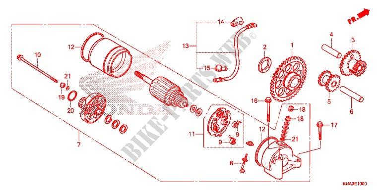 Starter Motor For Honda Ctx 200 Bushlander 2014   Honda