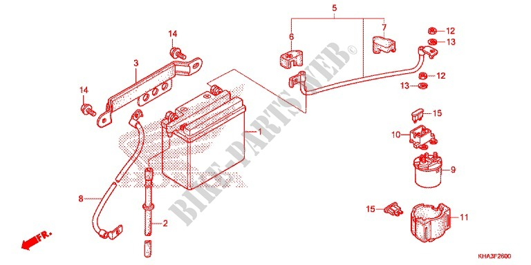 honda moto 200 ctx 2015 ctx200e frame tools/battery box